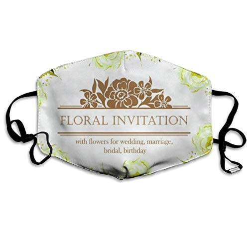 Custom Mouth Mask Anti-Dust Floral Invitation Face Mask Breathable Mask With Adjustable Ear-loop Windproof And Warm