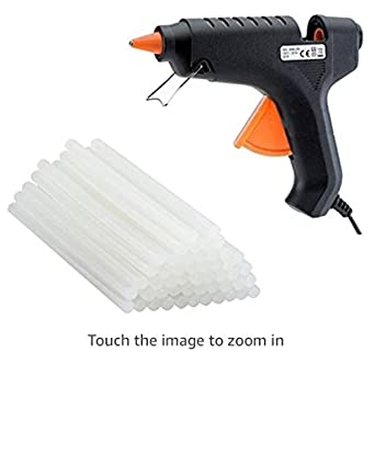 A.S ENTERPRISES MHK Hot Melt Glue Gun 40W with 15 Glue Sticks