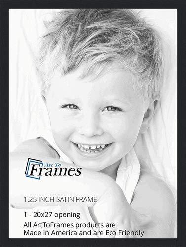 Amazoncom Arttoframes 20x27 Inch Satin Black Picture Frame