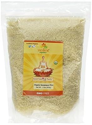 Vedica Organics - Organic Sonamasuri Rice White Polished 2lbs