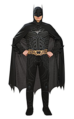 Rubie's Costume Co Batman Dark Knight Rises Adult Batman Costume, Black, Medium (Batman Black Knight Rises)
