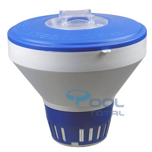 Luxus Dosierschwimmer Chlordosierer für 200g Tabletten mit Stellring, trägt bis zu 1,0 kg Chlor- oder Sauerstoff-Tabletten