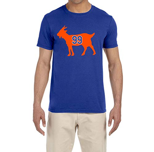 Tobin Clothing Blue Edmonton Gretzky Goat T-Shirt Adult Large