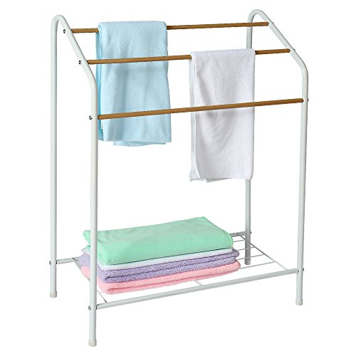 HOME BI Towel Bathroom Rack, 3 Tier Metal Freestanding Towel