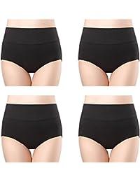 Women's Cotton Underwear High Waist Full Coverage Brief...