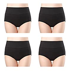 4 Pack of Women's High Waisted Underwear Panties in Various Colors.              Size Information: (The waist size is high waist size- waist size around the belly button).       Size S : high waist: 25 - 26 inch, hips 36-37.5...
