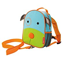 Skip Hop Zoo Little Kid and Toddler Safety Harness Backpack, Darby Dog