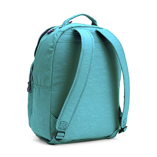 Kipling Seoul Backpack, Cool Turquoise Contrast Zip, One Size by Kipling (Image #2)