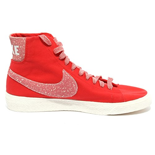BLAZER NIKE sneaker tessuto donna woman rosso B1371 shoe Rosso qpwtaAx
