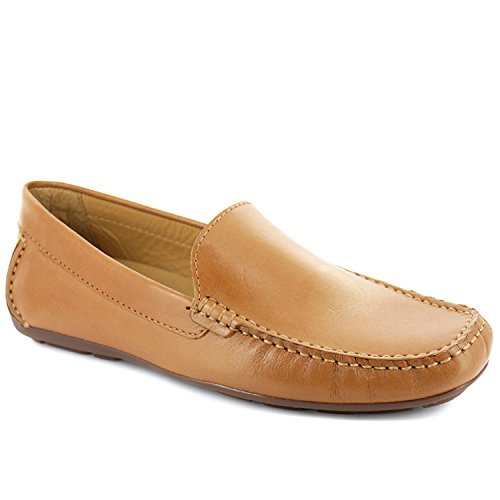 Driver Club USA Mens Genuine Leather Made in Brazil San Diego Venetian Tan Napa Loafer 9.5