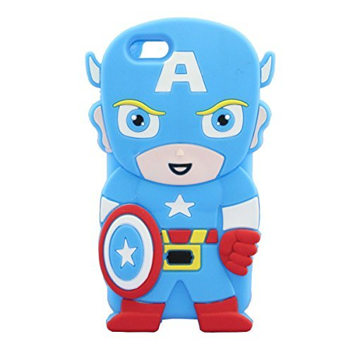 iPhone 6 Case, Palettes Maxx - America The Leader Avengers Captain Super Hero Gangs Silicone Rubber Case for iPhone 6 4.7 inch