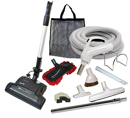 Alder Products Ltd. Galaxy Deluxe Central Vacuum Kit with Hose, Power Head & Wands - Works with All Brands of Central Vacuum Units (35', Light Gray) ()