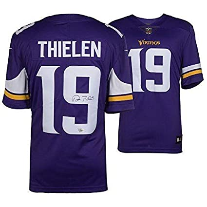 newest d874c a07ad Adam Thielen Signed Jersey - Nike Purple Limited FANATICS ...