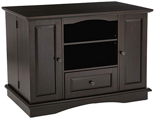 (Rockpoint Milano Highboy-Style Wood TV Stand Media Console, 42-Inch, Raisin)