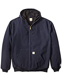 Carhartt Mens Big & Tall Thermal-Lined Duck Active Hoodie Jacket J131