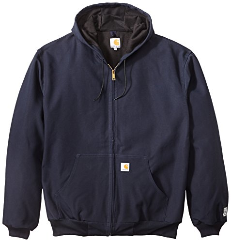 Carhartt Men's Big & Tall Thermal Lined Duck Active Jacket J131,Dark Navy,XXX-Large Tall