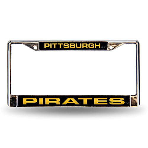 - Rico Pittsburgh Pirates MLB Chrome Metal Laser Cut License Plate Frame
