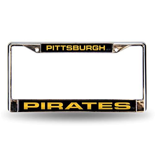 Rico Pittsburgh Pirates MLB Chrome Metal Laser Cut License Plate Frame