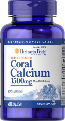 Pride puritain Force Triple de calcium de corail 1500 mg-60 Capsules