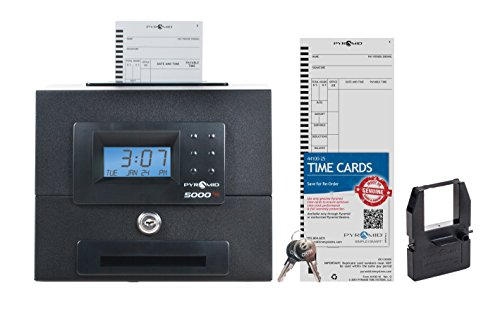 Pyramid 5000HD Heavy Duty Steel Auto Totaling Time Clock - Made in the USA ()