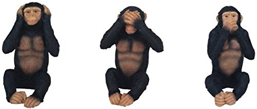 StealStreet SS-G-54092 Monkeys See Hear Speak No Evil Collectible Figurine Statue (Set of 3)