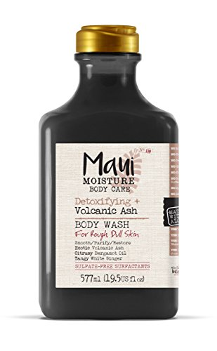 Maui Moisture Volcanic Body Wash 19.5 Ounce Moisturizing Body Wash Formulated for Rough Dull Dry Skin Normal Skin Combination Skin, with Aloe Vera Juice and Coconut Water, Silicone Free Aloe Butter Body Wash