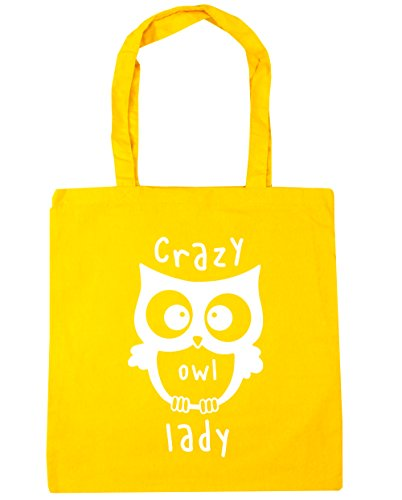 HippoWarehouse Tote Owl litres Bag 42cm Lady Shopping 10 Crazy Gym x38cm Beach Yellow wHSrqwtP
