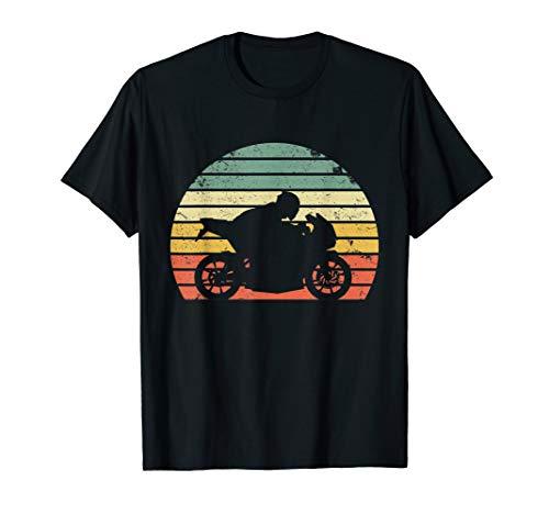 - Vintage Biker Motorcycle Shirt Silhouette Retro T-Shirt