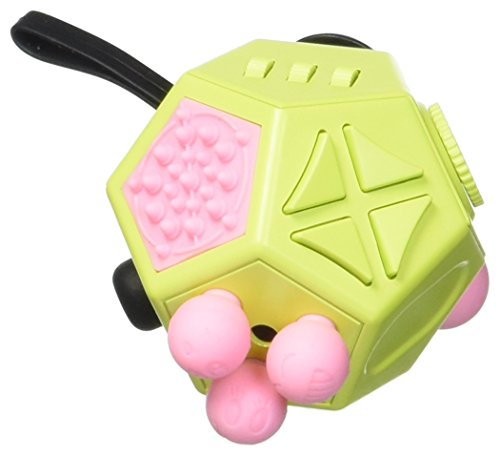Fidget Dodecagon – 12 Sided Fidget Cube Relieves Stress and Anxiety – Toy Increases Focus and Attention for Children and Adults with ADHD, ADD OCD, and Autism (Green)