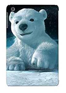 Ipad Mini/mini 2 Case Cover - Slim Fit Tpu Protector Shock Absorbent Case (cute Polar Bear ) by supermalls
