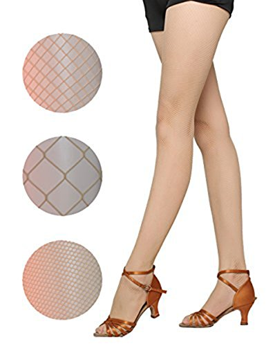 DRESHOW 4 Packs Fishnet Stockings Sexy Cross Tights Seamless Nylon Large Mesh Hollow Out Pantyhose, - Models Look Nu