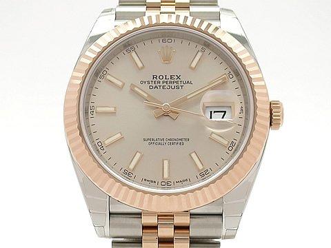 (ロレックス)ROLEX 腕時計 デイトジャスト41 メンズ時計 メーカー保証期間中 126331() K18RG/SS 未使用 B079TMPR1S
