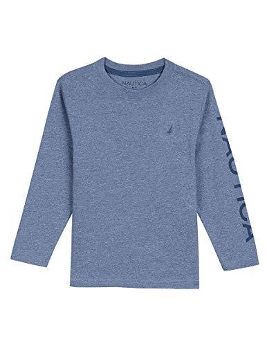- Nautica Boys' Little' Long Sleeve Solid Crew-Neck T-Shirt, Sydney River Marl, 5