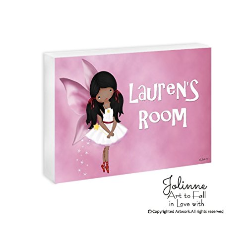 American Girls Door Sign Bedroom Custom Name Fairy Baby Nursery Plaque Customized Hair and Skin Color 5