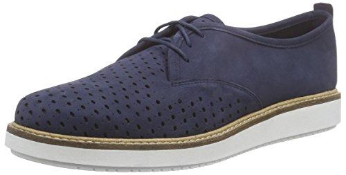 Clarks Glick Resseta - Zapatos de cordones derby Mujer Azul (Navy Nubuck)