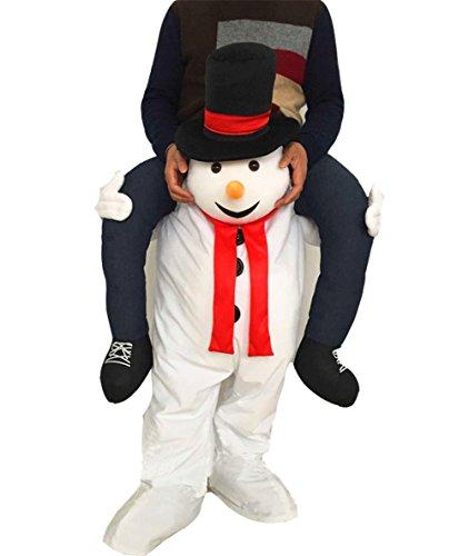 Huiyankej Piggyback Santa Costume Adult Carry On Me Costume Christmas Mascot Pants (Snowman)