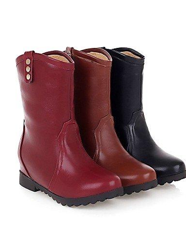 Eu39 Marrón Mujer Moda Comfort Uk3 5 Eu36 Zapatos Exterior Botas Cn35 Semicuero Plataforma negro Uk6 Oficina A De Xzz Casual Brown La us8 us5 Black Trabajo Y 5 Cn39 E8HwqIaw