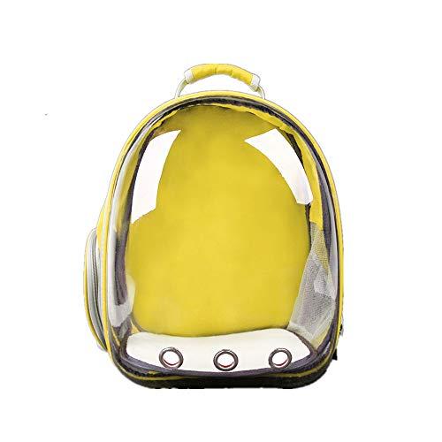 (ZLD Panoramic Transparent pet Bag Space Bag cat Bag Portable Cabin Shoulder Bag Backpack Dog cat Out Bag Lightweight Design no Weight Durable Breathable)