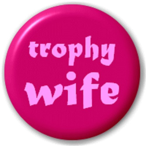 TROPHY FEMME (MARIAGE) - 25 MM BROCHE INSIGNE DE BOUTON
