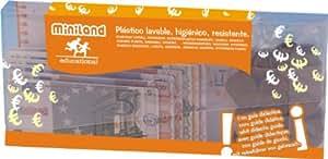 Miniland Educational 154170 - Juego didáctico Set Euro cartera 28 billetes y 80 monedas