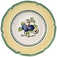 Villeroy & Boch French Garden Valence Rim Soup : Plum, 9 in, White/Multicol