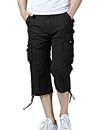 "<span class=""a-offscreen"">[Sponsored]</span>Men's Belted Cargo Short, Cropped Pants, Long Shorts for Men"