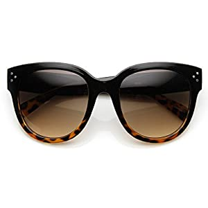 AStyles Womens Large Oversized Fashion Horn Rimmed Audrey Sunglasses