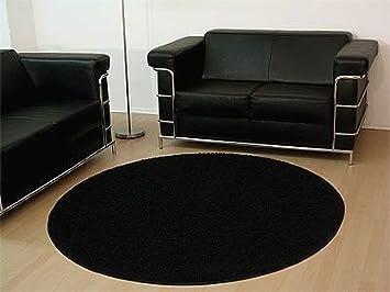 Teppich hochflor shaggy prestige schwarz rund in größen amazon