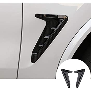HOTRIMWORLD Stainless Front Fender Side Air Vent Outlet Trim Cover 2pcs for BMW X3 X4 G01 G02 2018-2019