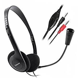 Insten VOIP/SKYPE Hands-Free Headset with Microphone, Black