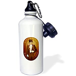 3dRose wb_12656_1 Steampunk – Sports Water Bottle, 21 oz, White