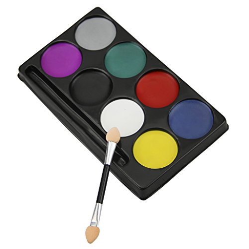 8 Colors Face Paint Water-Based--Non Toxic Makeup Painting for Theatrical Mask,Joker,Birthday/Theme/halloween Party,Fancy ()