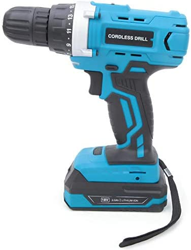 Electric Drill, High Quality Li-Ion Battery Drill, Good Durability High Hardness for Home DIY Drilling Holes