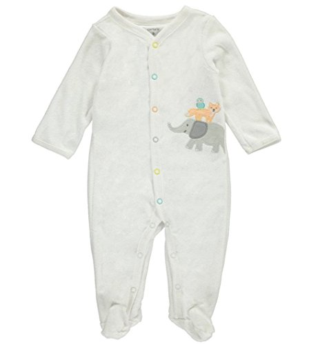 Ki Baby Clothes - Carter's Baby Elephant And Friends Footie 3 Months